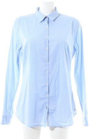 Tommy Hilfiger Langarmhemd blau Punktemuster Business-Look