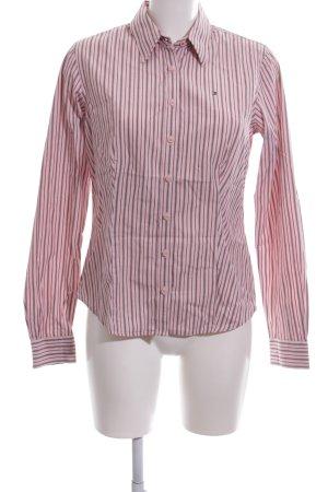 Tommy Hilfiger Langarmhemd schwarz-pink Streifenmuster Business-Look
