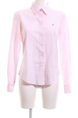 Tommy Hilfiger Langarmhemd weiß-pink Streifenmuster Casual-Look
