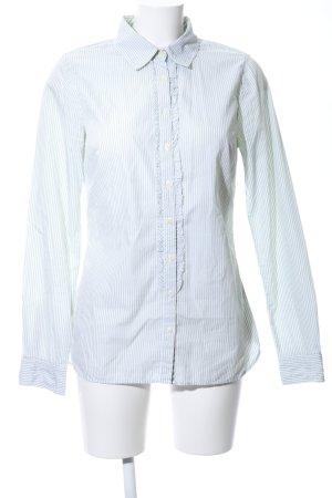Tommy Hilfiger Langarmhemd weiß-grün Streifenmuster Casual-Look