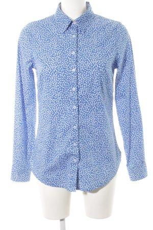 Tommy Hilfiger Langarmhemd weiß-blau Allover-Druck Business-Look