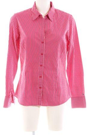 Tommy Hilfiger Langarmhemd rot-weiß Streifenmuster Business-Look