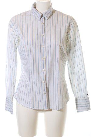 Tommy Hilfiger Langarmhemd weiß-blau Streifenmuster Business-Look