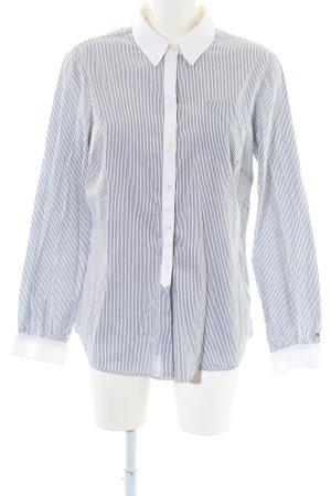 Tommy Hilfiger Langarmhemd weiß-hellgrau Streifenmuster Casual-Look