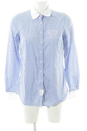 Tommy Hilfiger Camisa de manga larga azul-blanco estampado a rayas