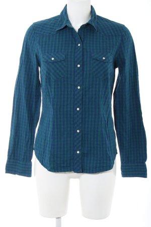 Tommy Hilfiger Langarmhemd blau-grün Karomuster Casual-Look