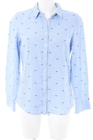 Tommy Hilfiger Langarmhemd blau Allover-Druck Business-Look