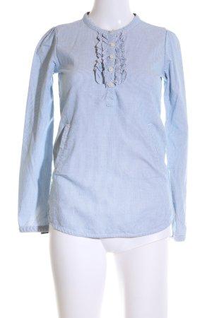 Tommy Hilfiger Langarmhemd blau-weiß Streifenmuster Casual-Look