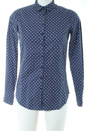 Tommy Hilfiger Langarmhemd blau abstraktes Muster Business-Look