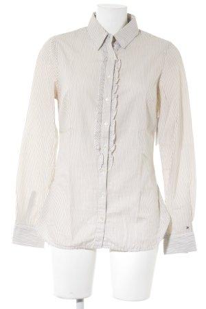 Tommy Hilfiger Camisa de manga larga beige-blanco estampado a rayas