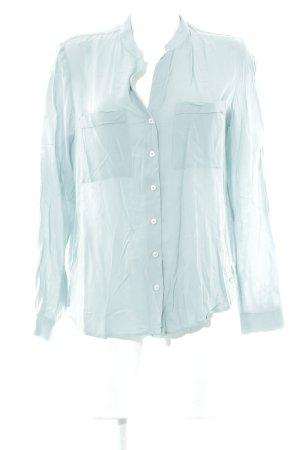 Tommy Hilfiger Langarmhemd blassblau-graugrün Streifenmuster Business-Look