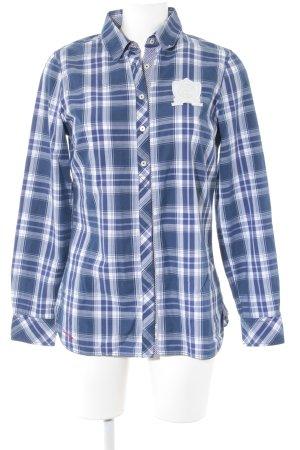 Tommy Hilfiger Langarmhemd blau-weiß Karomuster Business-Look