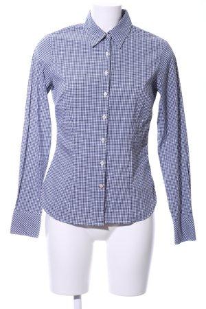 Tommy Hilfiger Camisa de manga larga azul-blanco estampado a cuadros look casual