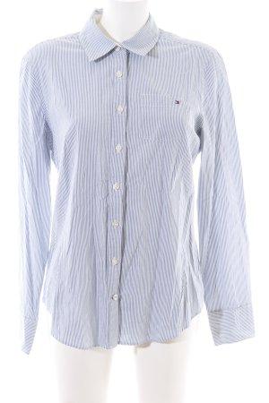 Tommy Hilfiger Langarmhemd blau-weiß Streifenmuster Business-Look