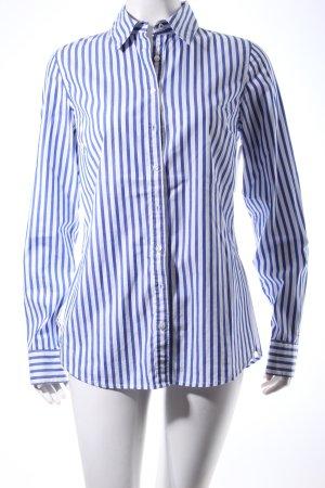 Tommy Hilfiger Langarmhemd blau-weiß Streifenmuster Marine-Look