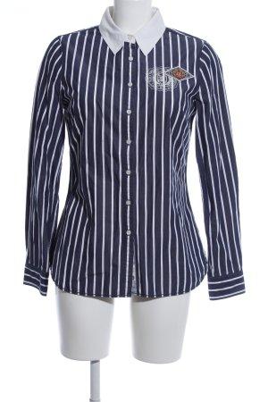 Tommy Hilfiger Langarmhemd weiß-blau Motivdruck Casual-Look