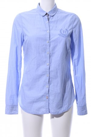 Tommy Hilfiger Langarmhemd blau Schriftzug gestickt Business-Look