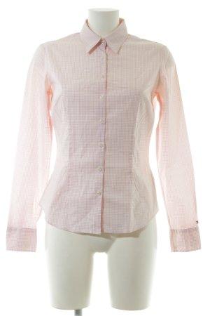 Tommy Hilfiger Langarmhemd creme-pink Karomuster klassischer Stil
