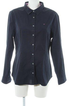 Tommy Hilfiger Shirt met lange mouwen donkerblauw zakelijke stijl