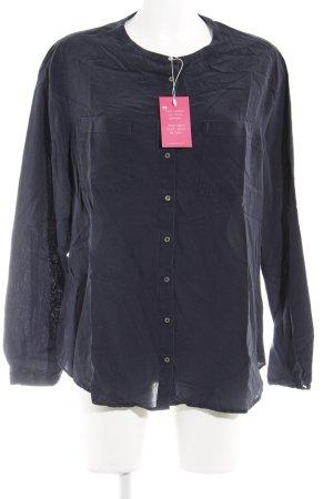Tommy Hilfiger Langarmhemd dunkelblau-silberfarben Business-Look