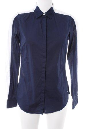 Tommy Hilfiger Langarmhemd dunkelblau-weiß Casual-Look