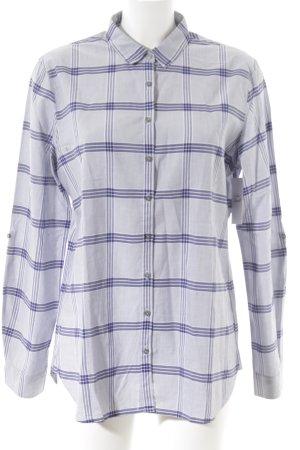Tommy Hilfiger Langarmhemd dunkelblau-weiß Karomuster Casual-Look