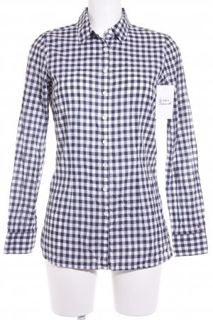 Tommy Hilfiger Long Sleeve Shirt dark blue-white check pattern classic style