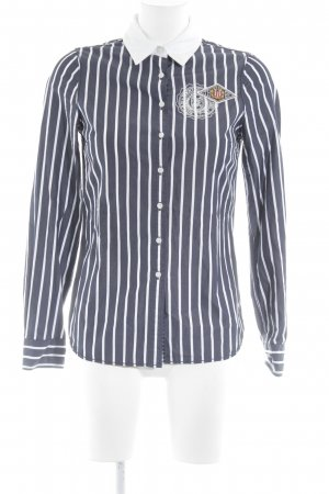 Tommy Hilfiger Chemise à manches longues bleu foncé-blanc Broderie de logo