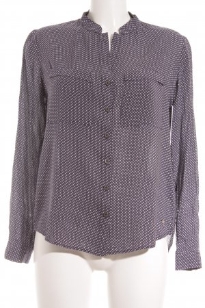 Tommy Hilfiger Langarmhemd dunkelblau-weiß Punktemuster Casual-Look