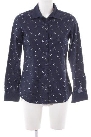 Tommy Hilfiger Chemise à manches longues bleu foncé-blanc Motif d'étoiles