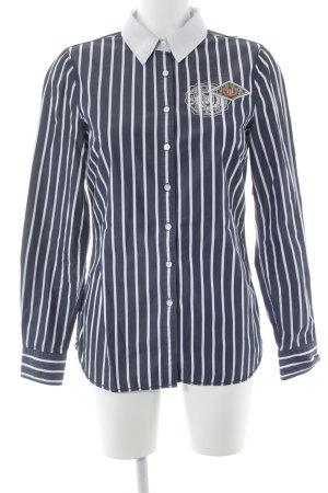 Tommy Hilfiger Chemise à manches longues bleu foncé-blanc motif rayé