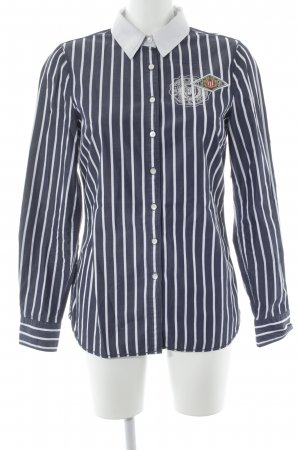 Tommy Hilfiger Long Sleeve Shirt dark blue-white striped pattern casual look