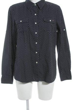 Tommy Hilfiger Langarmhemd dunkelblau-wollweiß Paisleymuster Business-Look
