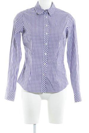Tommy Hilfiger Langarmhemd dunkelviolett-wollweiß Karomuster Country-Look