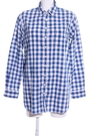 Tommy Hilfiger Langarmhemd weiß-blau Allover-Druck Casual-Look