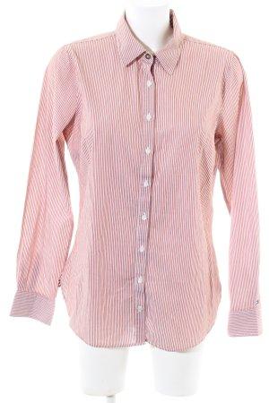 Tommy Hilfiger Langarmhemd pink-creme Streifenmuster Business-Look