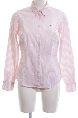 Tommy Hilfiger Camisa de manga larga rosa-blanco estampado a rayas look casual