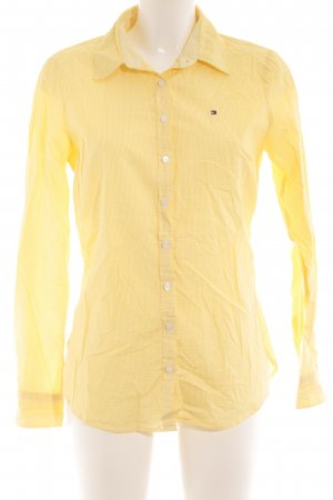 902de3254 Tommy Hilfiger Long Sleeve Shirt yellow-white check pattern business style