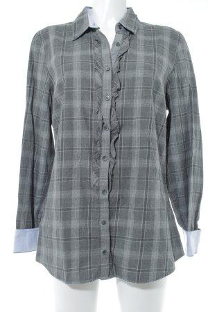 Tommy Hilfiger Camicia a maniche lunghe grigio-grigio scuro motivo a quadri