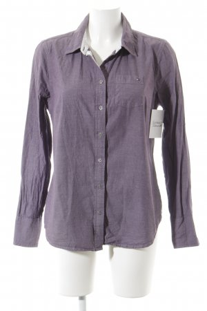 Tommy Hilfiger Langarmhemd grauviolett Casual-Look