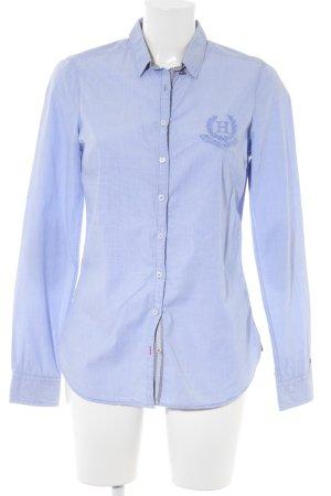 Tommy Hilfiger Long Sleeve Shirt purple-azure weave pattern casual look