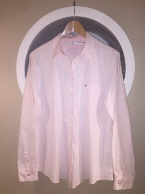Tommy Hilfiger Long Sleeve Shirt white-light pink cotton
