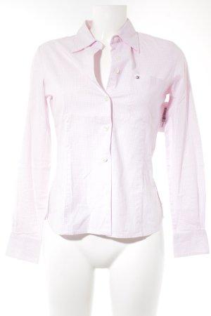 Tommy Hilfiger Camisa de manga larga rosa claro-blanco estampado a cuadros