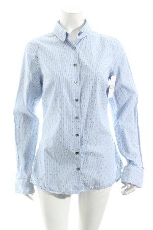 Tommy Hilfiger Langarmhemd himmelblau-dunkelblau Punktemuster klassischer Stil