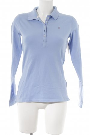 Tommy Hilfiger Shirt met lange mouwen azuur klassieke stijl