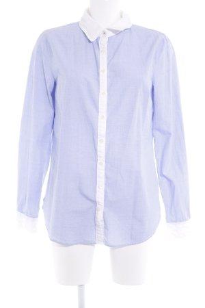 Tommy Hilfiger Langarmhemd himmelblau-weiß College-Look