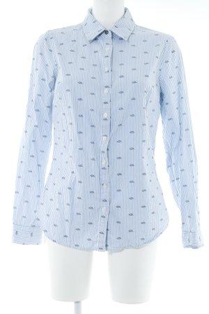 Tommy Hilfiger Langarmhemd himmelblau-weiß Mustermix schlichter Stil