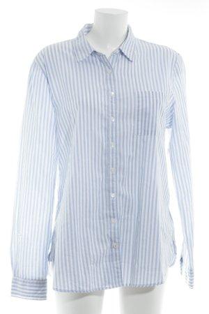 Tommy Hilfiger Langarmhemd himmelblau-weiß Streifenmuster Logostickerei
