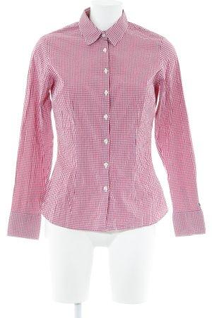 Tommy Hilfiger Langarmhemd magenta-weiß Karomuster Casual-Look