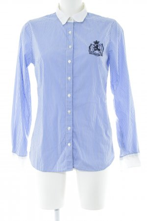 Tommy Hilfiger Langarmhemd neonblau Streifenmuster klassischer Stil